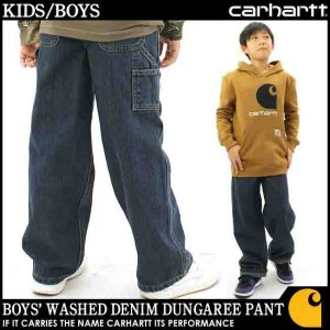 Carhartt Boys Washed Denim Dungaree Pant