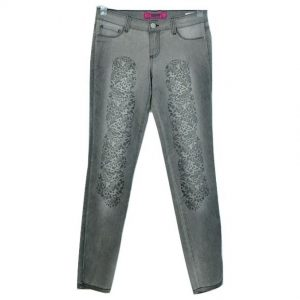GLO Women's Stylish Slim Fit Denim Pant Grey